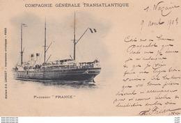 "CPA  Cie Gle Transatlantique, Paquebot  ""FRANCE"" . ...D119 - Piroscafi"
