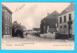 CPA Environs De WAVRE : BOURGEOIS : Rue Nouvelle - Imp-Pap. Charlier Niset, Wavre (un Peu Abîmée) - Wavre