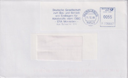 Brief, Absenderfreistempel DBE Endlager Morsleben, 2008, Bergbau - Mineralien