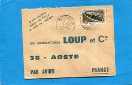 Marcophilie-TCHAD--lettre >Françe-cad-Oum Hadjer-1969-stamps N°133 Pointe De Flèche - Chad (1960-...)