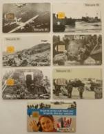 HISTOIRE / SECONDE GUERRE MONDIALE - DEBARQUEMENT NORMANDIE 1944 - Avion / Bateau / Char ... - Lot 7 Télécartes France - Armee