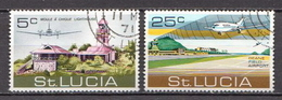 St. Lucia Used Set - Airplanes
