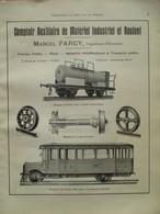 Train Wagon AUTOBUS AUTO-RAIL -  Page De 1925 Catalogue Sciences & Tech. (Dims. Standard 22 X 30 Cm) - Chemin De Fer