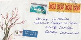HONG KONG CIRCULATED ENVELOPE, TO SANTO DOMINGO, REPUBLICA DOMINICANA IN 1986 AIRMAIL -LILHU - Hong Kong (...-1997)