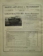 Train LOCOTRACTEUR CX4 HELE-SHAW  -  Page De 1925 Catalogue Sciences & Tech. (Dims. Standard 22 X 30 Cm) - Chemin De Fer