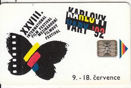 """CZECHOSLOVAKIA - Karlovy Vary """"92, Chip SC5, No CN, Tirage %50000, 07/92, Used - Tchécoslovaquie"""