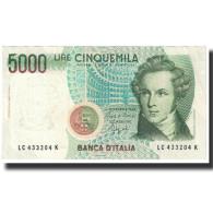 Billet, Italie, 5000 Lire, KM:111a, NEUF - [ 2] 1946-… : Repubblica