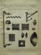 PIECES POUR LOCOMOTIVE  Mullard Valenducq & Dubois - Page De 1925 Catalogue Sciences & Tech. (Dims. Standard 22 X 30 Cm) - Chemin De Fer