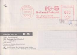 Brief, BRD, Absenderfreistempel Kali Und Salz AG Werk Sigmundshall Bokeloh, 1975, Bergbau - Mineralien