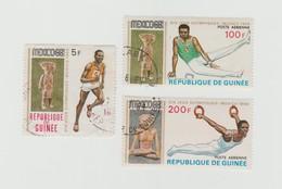 République De Guinée - Lot De 3 Timbres Jeux Olympiques De Mexico 1968 - Année 1969 Mi GN 512 - 519 A - 520 A - Guinée (1958-...)