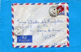 Marcophilie-Madagascar-lettre-Françe-cad-1960 ANDAPA-stamp Flower - Madagascar (1960-...)