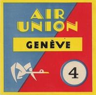 Aviation - Air Union Genève - Beau Document - Aufklebschilder Und Gepäckbeschriftung