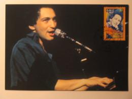 Michel BERGER - Chanteur / Visage Artiste - Carte Philatélique 1er Jour Timbre - Music And Musicians