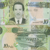 Botswana Pick-Nr: 30d Bankfrisch 2014 10 Pula - Botswana
