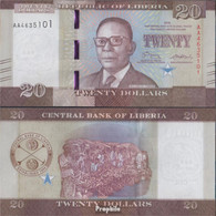 Liberia Pick-Nr: 33a Bankfrisch 2016 20 Dollars - Liberia