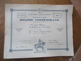 ORLEANS PAROISSE SAINT-PATERNE ANNEE SCOLAIRE 1914-1915  LE 28 JUILLET 1915 DIPLOME COMMEMORATIF L'ELEVE JEAN MATON - Diploma & School Reports