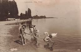 Suisse Lausanne Vidy Plage Enfants + Timbre Cachet 1920 - VD Vaud