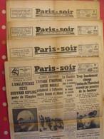 """""""Paris-soir"""" 4 Numéros De 1935-1936.  éthiopie Saint-Exupéry Charcot Tigre Cirque Roosevelt - Newspapers"""