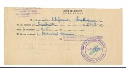 MILITARIA...FORCES FRANCAISES EN AUTRICHE..ORDRE DE MISSION..AVEC CACHET...1953 - Documenti Storici