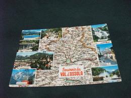 CARTA GEOGRAFICA SOUVENIR DU VAL D'OSSOLA  VEDUTE - Carte Geografiche