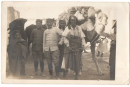 Ben Gardane 1917 Tunisie Militaire - Guerre 1914-1918 Carte Photo - Chameau - War 1914-18