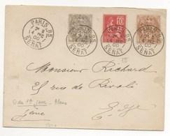 4/12/1900 LES TROIS TYPES PROVENANT DU SENAT TRES RARE - Francia
