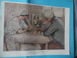 GUERRE DE 1914-1918  -  A L'HOPITAL  -  La Partie D'échecs - Documents