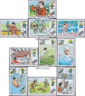 Kuba Mi.-Nr.: 3342-3351 (kompl.Ausg.) Gestempelt 1989 Panamerikanische Sportspiele - Kuba