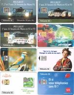 Lot De 16 Télécartes Différentes - Télécartes