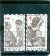 1968 BELGIQUE COB N° 1454 Et 1455 ( O ) Série Croix Rouge - België