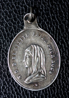 """Pendentif Médaille Religieuse Argent 800 """"Ste Robe De Jésus Christ / Notre-Dame D'Humilité / Argenteuil"""" Religious Medal - Religion & Esotérisme"""