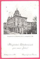 Bankgebäude Der Pfälzischen Bank In Ludwigshafen A. Rh. - Herzlichen Glückwunsch Zum Neuen Jahre - Banque - 1905 - Ludwigshafen