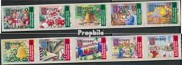 GB - Jersey 1002II-1011II Fünferstreifen (kompl.Ausg.) Jahreszahl 2002 Postfrisch 2002 Weihnachten - Jersey