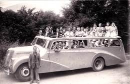 Photo Format Carte /  Autocar Citroën De La Société SLA  De  Lourdes (65), Transport Des Touristes - Automobiles