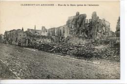 Dpt 55 Clermont En Argonne Rue De La Gare Prise De L Abattoir  EV Guerre 14-18 - France
