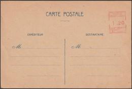 France 1944. Entier Postal De Toulouse Par Machine à Affranchir K 0687 Sans Postes Françaises (Sinais GUE E2) - Postal Stamped Stationery