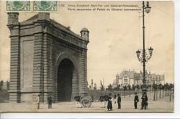 Dpt 57 Metz Porte Serpenoise Et Palais Du General Commandant Sans No Ed Frings & Garms Animee 1909 EVT BE Trace Colle Ve - France