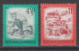 OOSTENRIJK 1348-49 ** MNH (1976) – RETZ (Moulin) – ENNS (Danube) - 1945-.... 2ème République