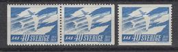 ZWEDEN 458 + 458b ** Scandinavian Airlines System (1961) - Suède