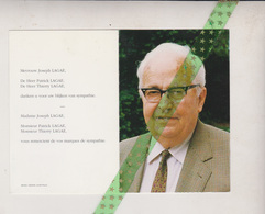 Joseph Lagae-De Meyer, Kortrijk 1916, 1999. Industrieel - Obituary Notices