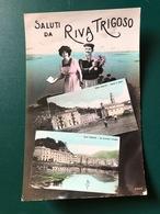SALUTI DA RIVA TRIGOSO (GENOVA)   1916 - Genova (Genoa)