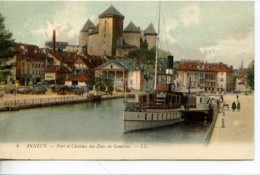Dpt 74 Annecy Port Et Chateau Des Ducs De Genevois Colorisee No4 EdLL - Annecy