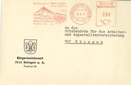 7412 Eningen Unter Achalm 1971 Erholungsort Bürgermeisteramt Zeugenberg - Affrancature Meccaniche Rosse (EMA)