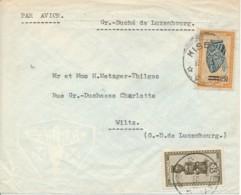 Ruanda Urundi - L Avion Kisenyi 10.2.53 Via Goma 12-2-53 Vers Wilz 20.2.53 Luxembourg – Vol SABENA - 1924-44: Covers
