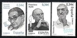 2010Spain4545-4547Francisco Ayala,Gonzalo Torrente Ballester,Vicente Ferrer - 2001-10 Nuevos & Fijasellos