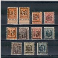 1912 - 13-23-24-25-26 Préoblitérés GENT - GAND - Precancels