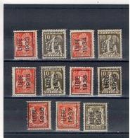 1933 - 34-35-36-37  - Préoblitérés  LIEGE - Typo Precancels 1932-36 (Ceres And Mercurius)