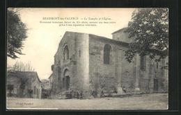 CPA Beaumont-les-Valence, Le Temple Et L'Eglise - Valence