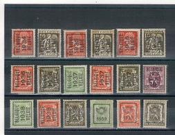 1934 - 35-36-37-38-39  -  Préoblitérés  BELGIQUE - BELGIE - Typo Precancels 1932-36 (Ceres And Mercurius)