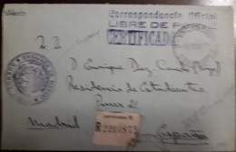 O) ARGENTINA,OFFICIAL CORRESPONDENCE -FREE OF PORTE -CERTIFICATE, TO SPAIN - Buenos Aires (1858-1864)